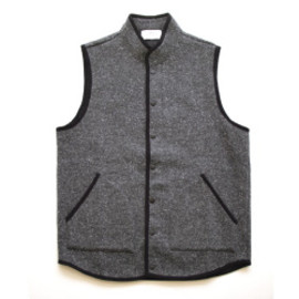 FLISTFIA - Button Vest - Black (Gray)
