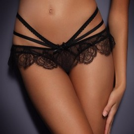 Pamelina lace and satin briefs