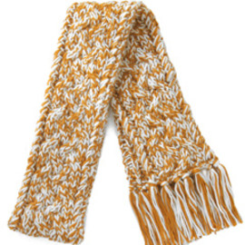 kaewn walker - Cable Knit Scarf (caramel with cream)