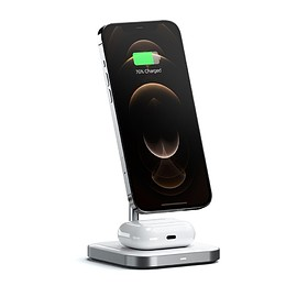 Satechi - Aluminum 2-in-1 Magnetic Wireless Charging Stand Wireless Chargers Satechi