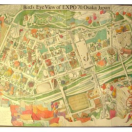 伊坂 芳太郎 - Bird's Eye View of EXPO '70, Osaka Japan