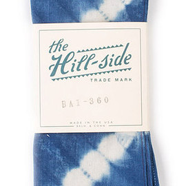 The Hill-Side - Hand-Dyed Murakumo Shibori Selvedge Indigo, Bandana