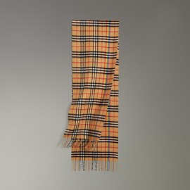 BURBERRY - The Classic Rainbow Vintage Check Cashmere Scarf