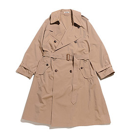 AURALEE - Finx Polyester Big Trench Coat-Beige Chambray