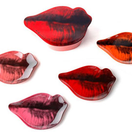 Andy Warhol - Lips pop art plate set