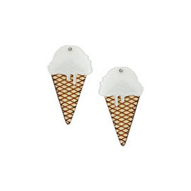 TOPSHOP - White Ice Cream Earrings