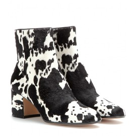 GIANVITO ROSSI - mytheresa.com Exclusive pony-hair ankle boots