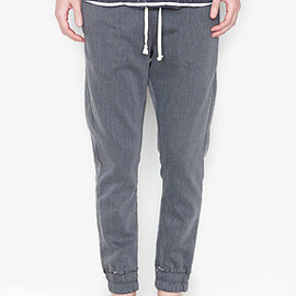 nonnative - DWELLER EASY RIB PANTS C/P STRETCH SWEAT PANTS