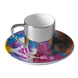 Damien Hirst - Cataclysmic anamorphic cup and saucer