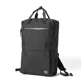 "HEAD PORTER - ""BLAU"" LAPTOP DAY PACK BLACK"