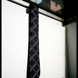 DRIES VAN NOTEN - Windowpane Tie