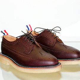 Thom Browne - Wingtip Brogue with Crepe Sole