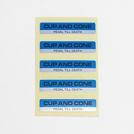cup and cone - Bar Sticker Sheet
