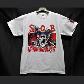 S.O.B OFFICIAL T SHIRT - S×O×B Leave Me Alone(white)