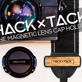 HACKxTACK - Magnetic camera lens cap holder