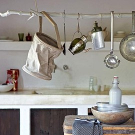 White Painted Branch Hanging Rack