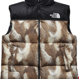 The North Face®/Supreme - Fur Print Nuptse Vest