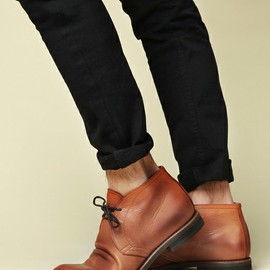 MR.OLIVE - WATER PROOF SHIRINK LEATHER /  CHUKKA BOOTS