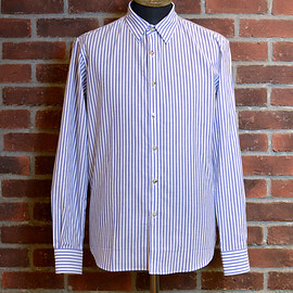 "DE BONNE FACTURE - ESSENTIAL SHIRT"" (Blue Stripe/Ecru)"