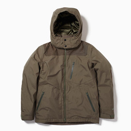 the POOL aoyama × White Mountaineering - WAX COTTON HOODED JACKET