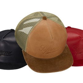 Supreme - Leather Meshback 5 Panel