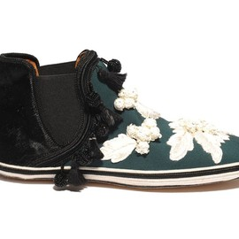 MARC JACOBS - SS2014 Fur and Embroidery High Cut SLIP-ON