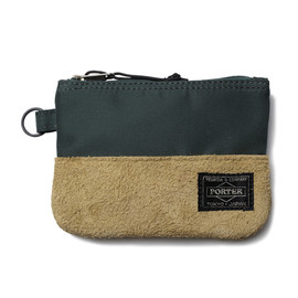 "HEAD PORTER - ""JACKSON"" ZIP WALLET GREEN"