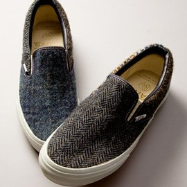 VANSforBY - HARRIS TWEED スリッポン