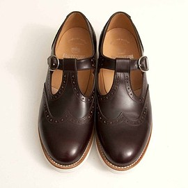 FACTOTUM - LEATHER T-STRAP WING TIP