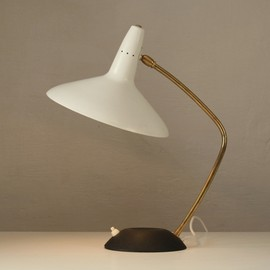 Carl Auböck - Brass black-white 50's table lamp