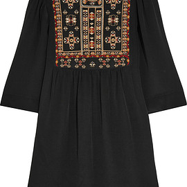 Isabel Marant - Ren embroidered silk mini dress