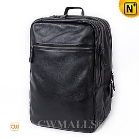 CWMALLS - CWMALLS® Berlin Men Zip-Around Leather Backpack CW907005 [Full Grain Calfskin Leather, Custom Made]