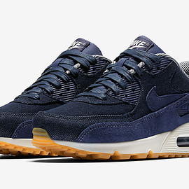 NIKE - Air Max 90 - Midnight Navy/Midnight Navy/Gum Light Brown