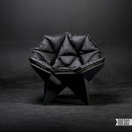 ODESD2 - Q1 black lounge chair