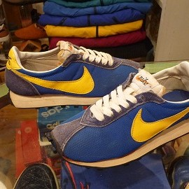 "NIKE - 「<used>70's NIKE LD-1000 blue/yellow""made in JAPAN"" size:US6/h-7?(24.5-25cm?) 15000yen」完売"