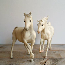 5gardenias - Vintage Breyer Andalusian Stallion and Arabian Mare