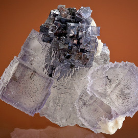 lavender cubes of Fluorite with Galena, Barite and Sphalerite