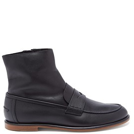 LOEWE - Penny loafer-style leather boots