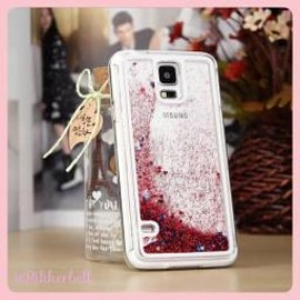 plamode - Glitter Star Galaxy case Red