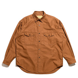 SEVEN BY SEVEN - Casual Tuck Shirts-Satin Back Crepe-Brown