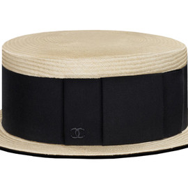 CHANEL - Straw Boater Hat