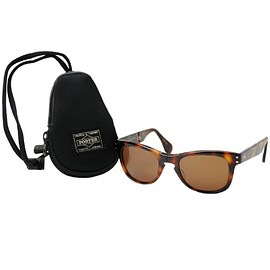 PORTER, OLIVER PEOPLES - Sunglasses & Sleeve - Black/Orange w/ Dark Amber