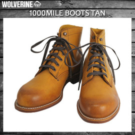 WOLVERINE - 1000MILE BOOTS tan