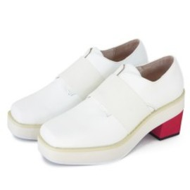 P.A.M. - Square Toed Heeled Derby (white)