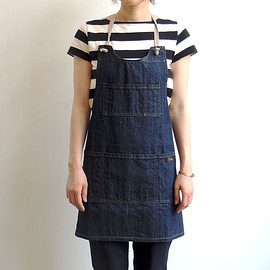 NAPRON - 08 MAKERS FULL APRON_INDIGO-DENIM-