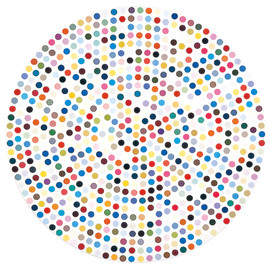 Damien Hirst - Dot Painting, 2011, from the Gagosian Worldwide show (January 2012)