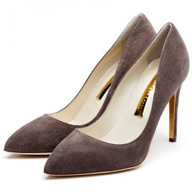 Hamelin Heel Pumps in Black and Mesh