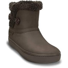 crocs - modessa synthetic suede shorty boot