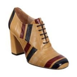 Dries Van Noten - Striped Oxford Bootie