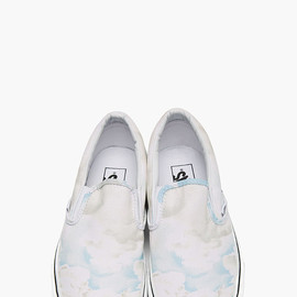 KENZO - White cloud Print Vans Edition Slip-Ons